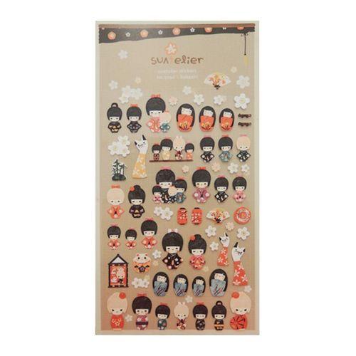 Kokeshi Deco Sticker