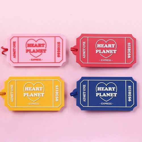 Heart Planet Luggage Tag