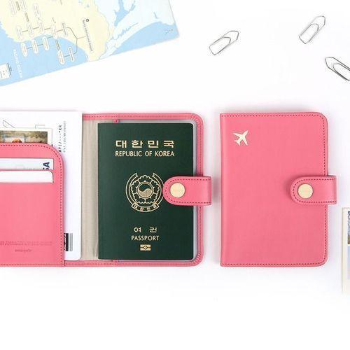Plane Anti Skimming Passport Case