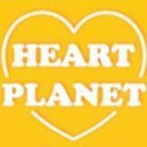 Heart Planet Luggage Tag, Yellow