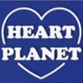Heart Planet Luggage Tag, Blue
