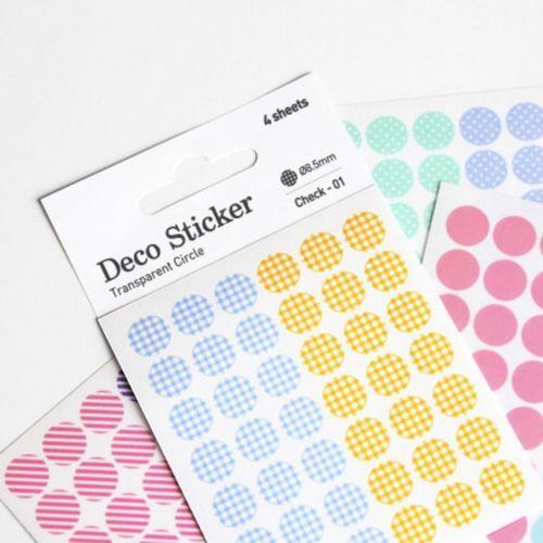 Circle Deco Sticker Set