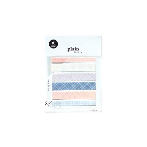 Plain Deco Sticker v6