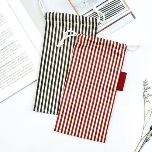 Small Slim Stripe Drawstring Pouch
