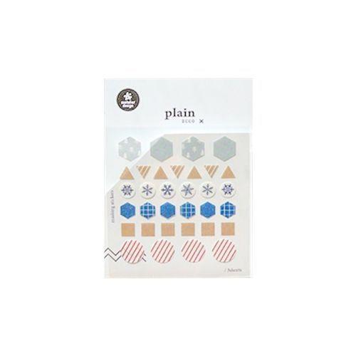 Plain Deco Sticker v13