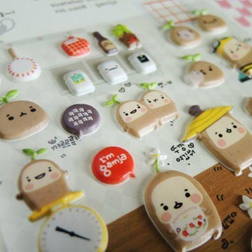 Gamja Emoji Deco Sticker