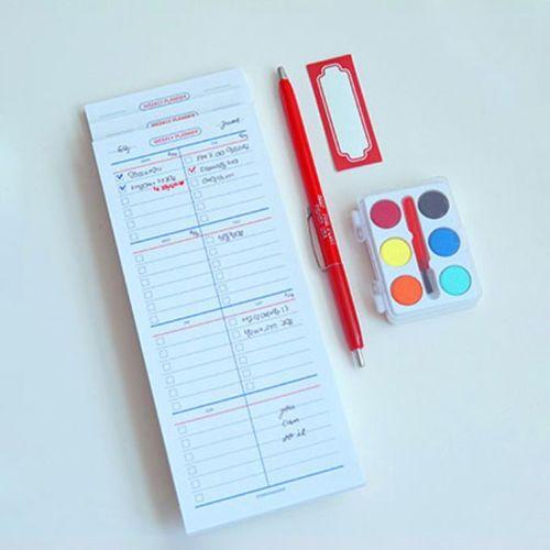 Pompon Weekly Schedule Sticky Note v1
