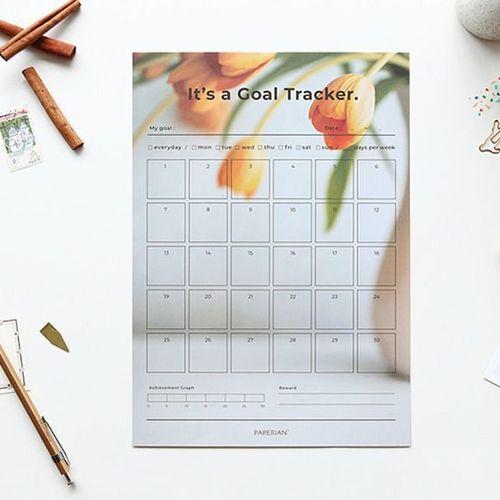 Large 30 Days Goal Tracking Sheets