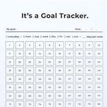 Large 100 Days Goal Tracking Sheets