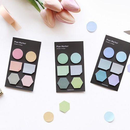 Mini Shape Sticky Note Set