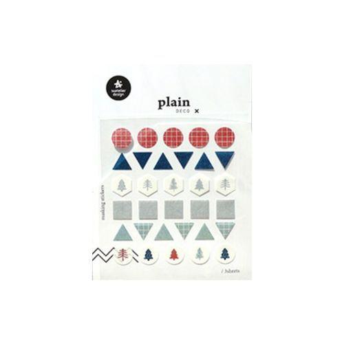 Plain Deco Sticker v12