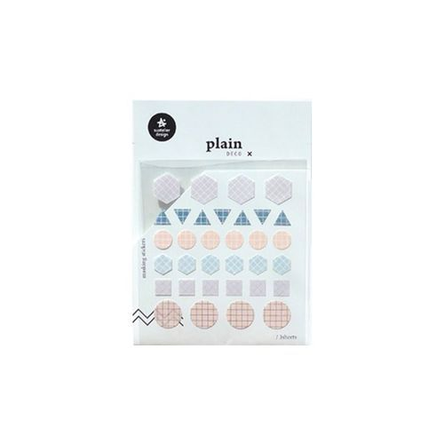 Plain Deco Sticker v8
