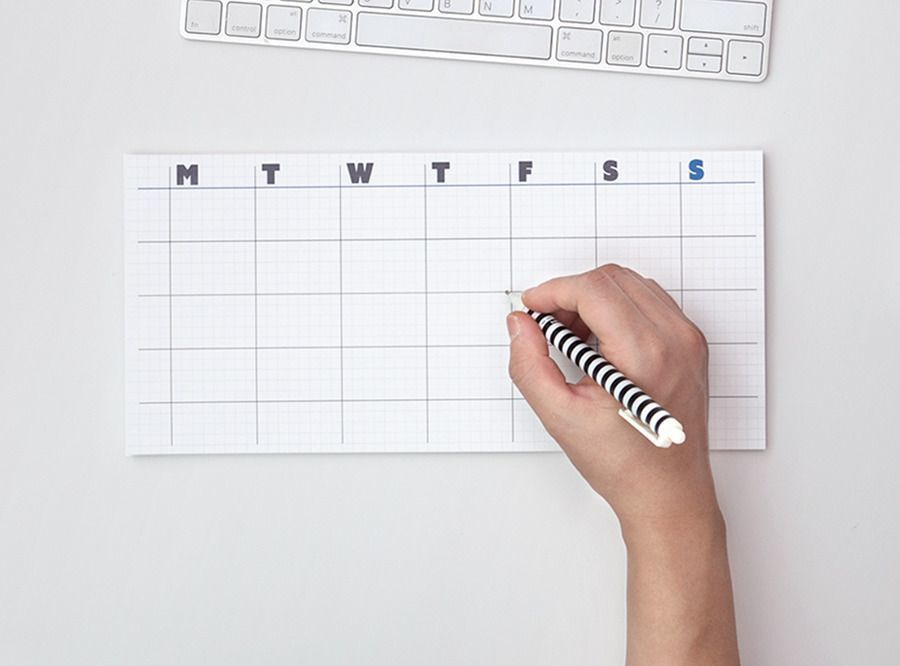 Weekly Schedule Sticky Note