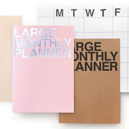 Pink Large Monthly Planner
