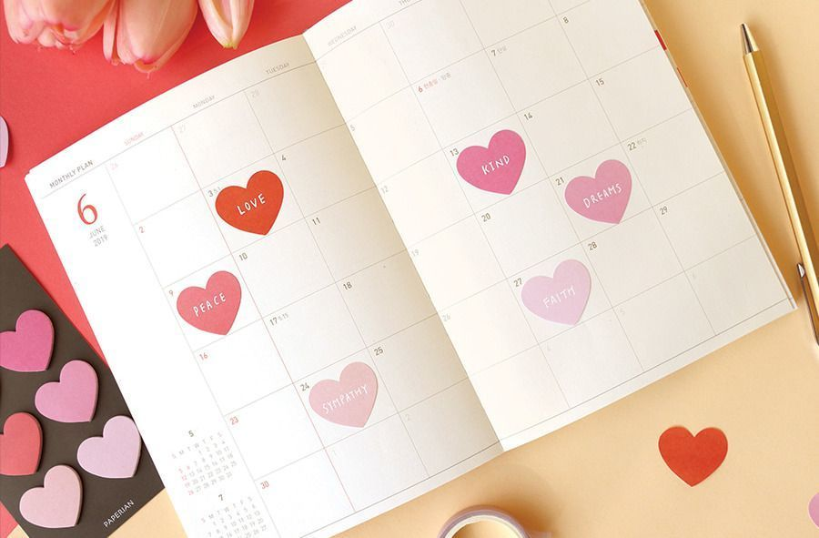Mini Heart Sticky Note Set