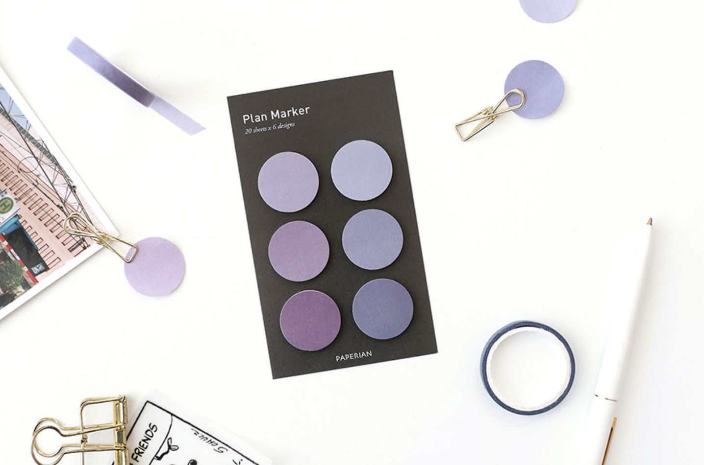 Mini Round Sticky Note Set