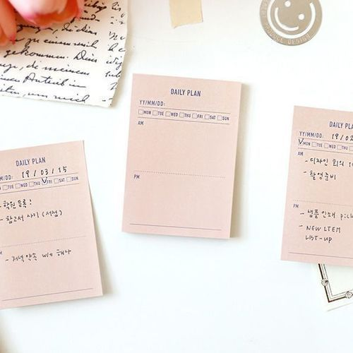Mini Plan Sticky Note