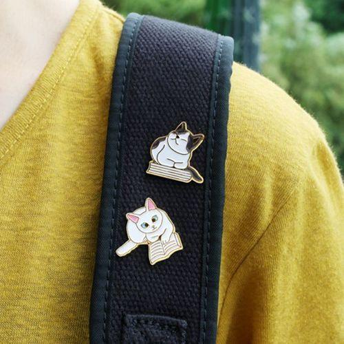 Let's Read Cat Badge