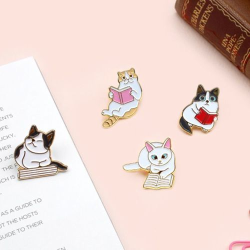 Let's Read Cat Badge