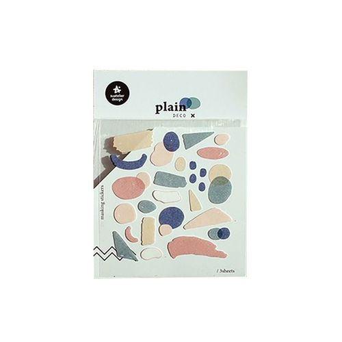 Plain Deco Sticker v17