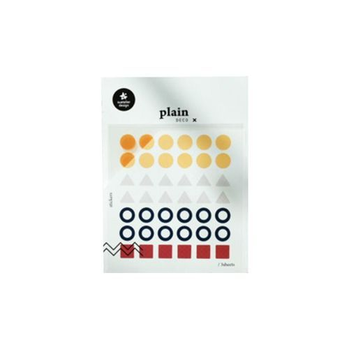 Plain Deco Sticker v22