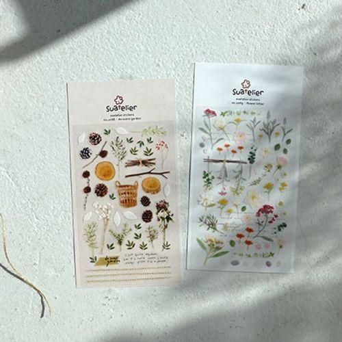 Flower Letter Deco Sticker