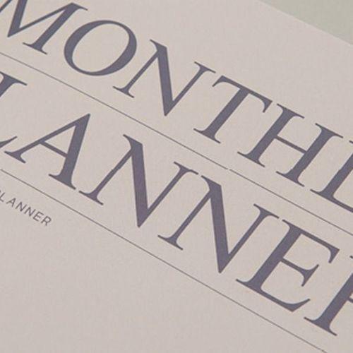 We Like Monthly Planner v2