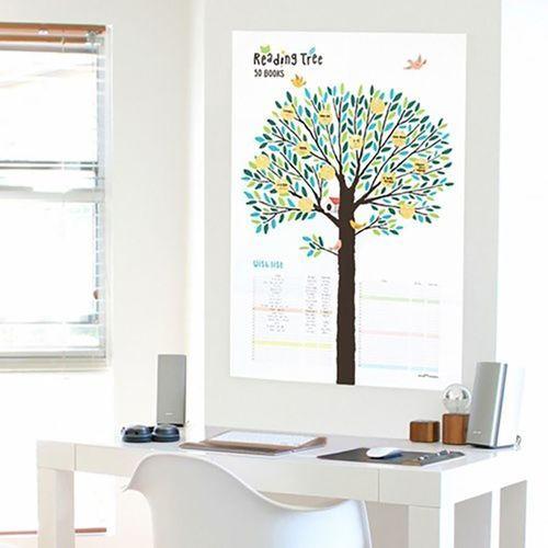 Reading Tree Goal Poster & Sticker Set
