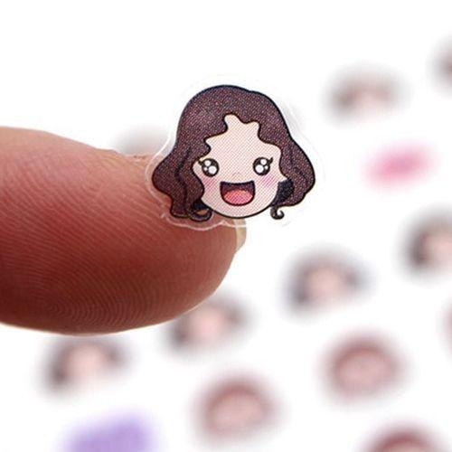 Short Hair Girl Emoticon Sticker v2