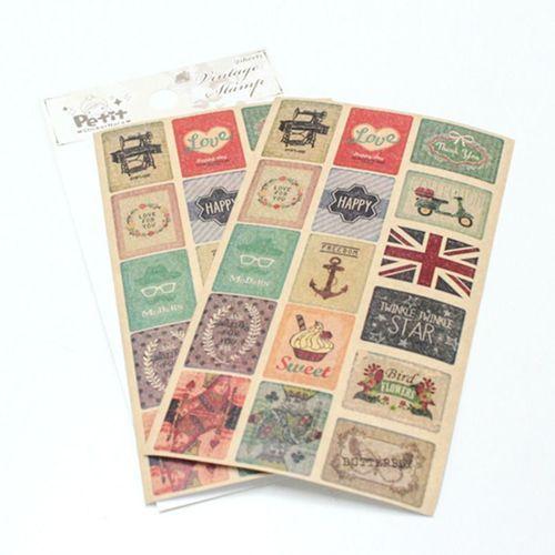 Vintage Stamp Deco Sticker v2