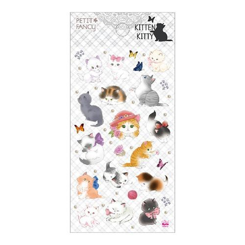 Elegant Kitty Deco Sticker