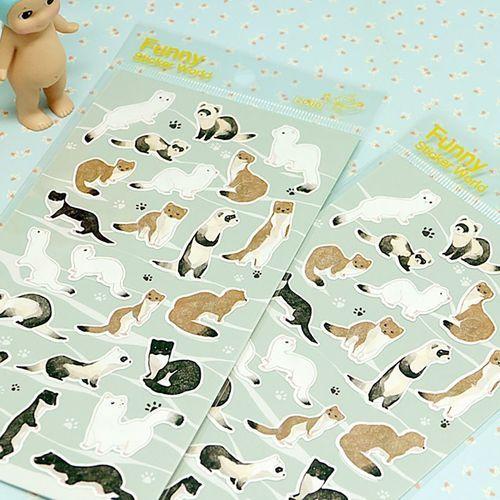 Weasel Friends Deco Sticker