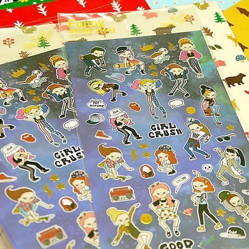 Girl Crush Deco Sticker v1