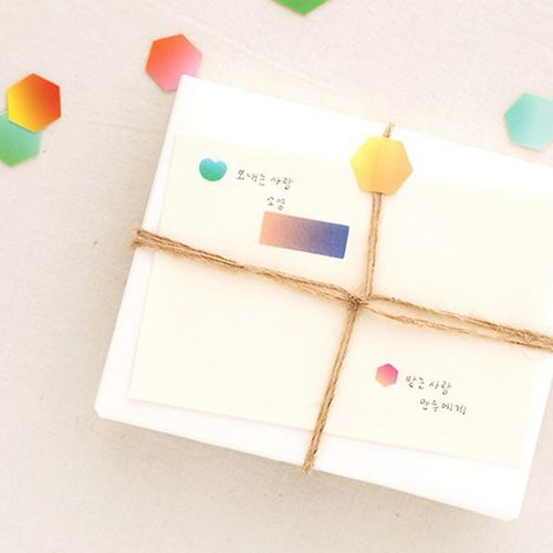 Color Palette Gradation Deco Sticker Set