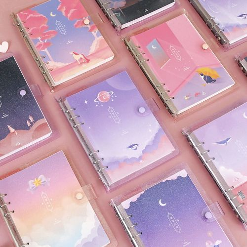 Moonlight Twinkle 6 Ring A5 Planner