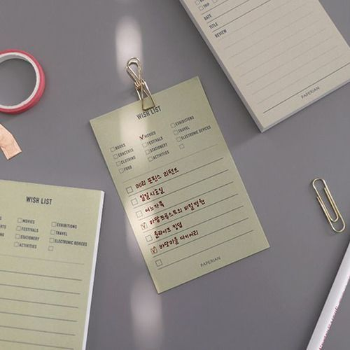 Themed Mini Plan Memo Pad