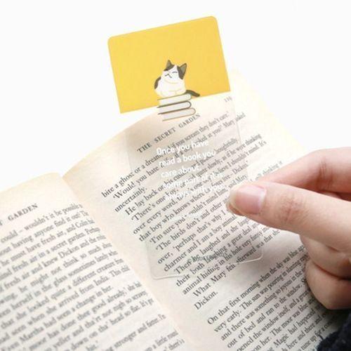 Let's Read Transparent Bookmark