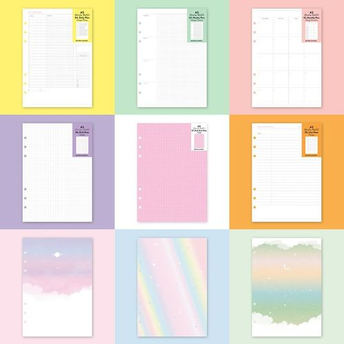 6 Ring A5 Planner Refill