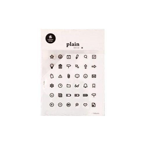 Plain Deco Sticker v26