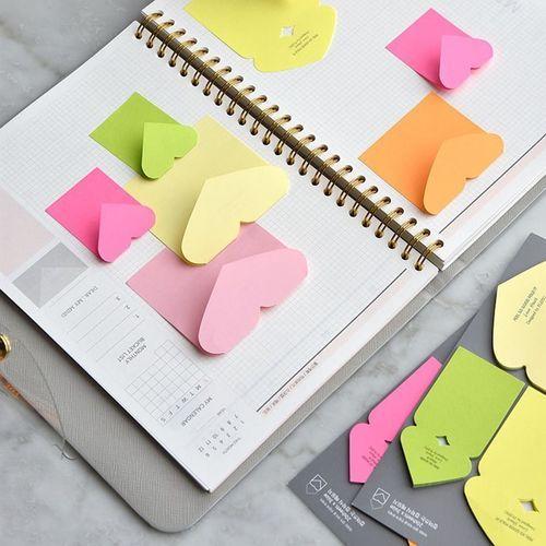 Heart Folding Sticky Note Set