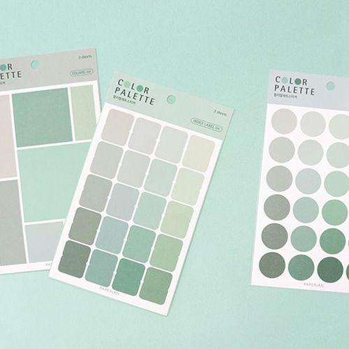 Color Palette Deco Sticker