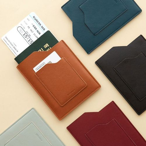 Slim Leather Passport Holder