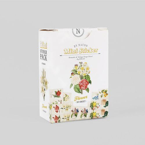 96pcs Flower Label Sticker Set