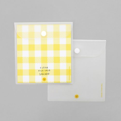Smile Square Transparent Pouch