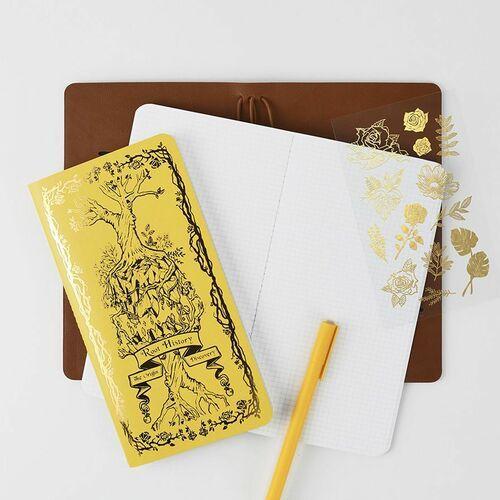 Antique Slim Grid Notebook