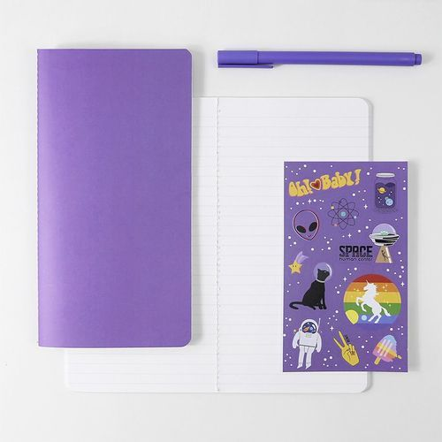 Solid Slim Lined Notebook