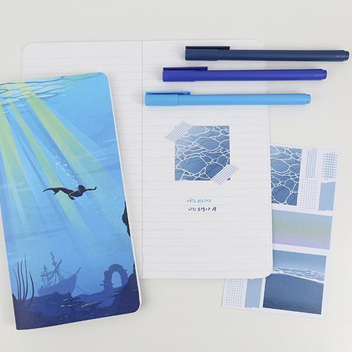 Illustration Slim Lined Notebook