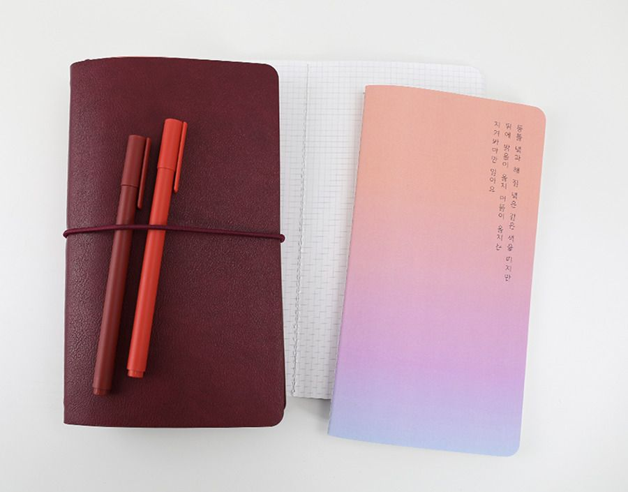 Gradient Slim Grid Notebook