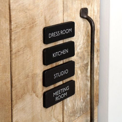 Black Basic Door Sign