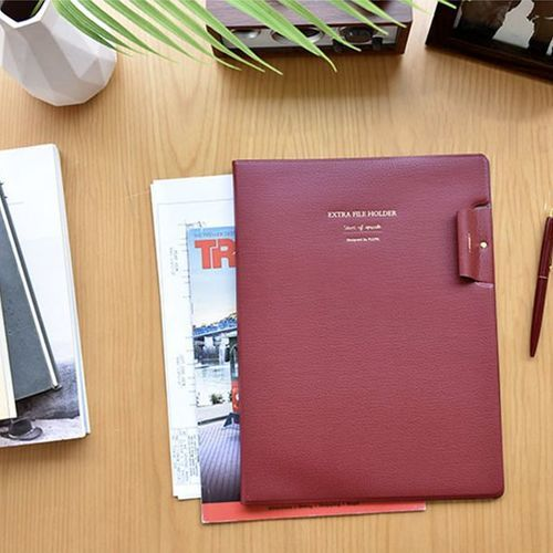 Leather Extra File Holder